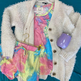 Short Sleeve Tie Dye Lounge Set