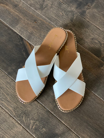 Micah Sandal in White