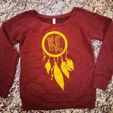 Dream catcher Sweatshirt- Wine