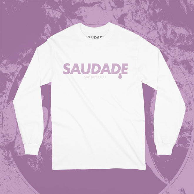 b98964141 Saudade Sad Boy Club. Search Cart. Saudade Long Sleeve Tee - White & Pink
