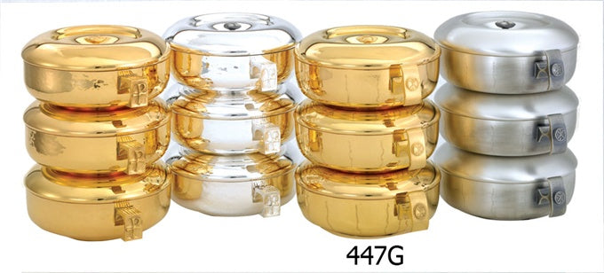 447G THREE PIECE STACKING CIBORIA SET