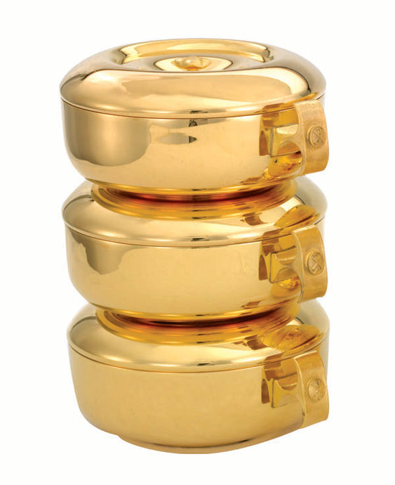 449G THREE PIECE STACKING CIBORIA SET