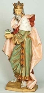 "Fontanini 50"" Standing King Melchior Nativity Figure, Style 52314"
