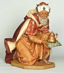 "Fontanini 50"" Kneeling King Gaspar Nativity Figure, Style 52315"