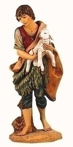 "Fontanini 50"" Shepherd Gabriel with Sheep Nativity Figure, Style 52351"