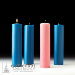 STEARINE PILLAR ADVENT CANDLES