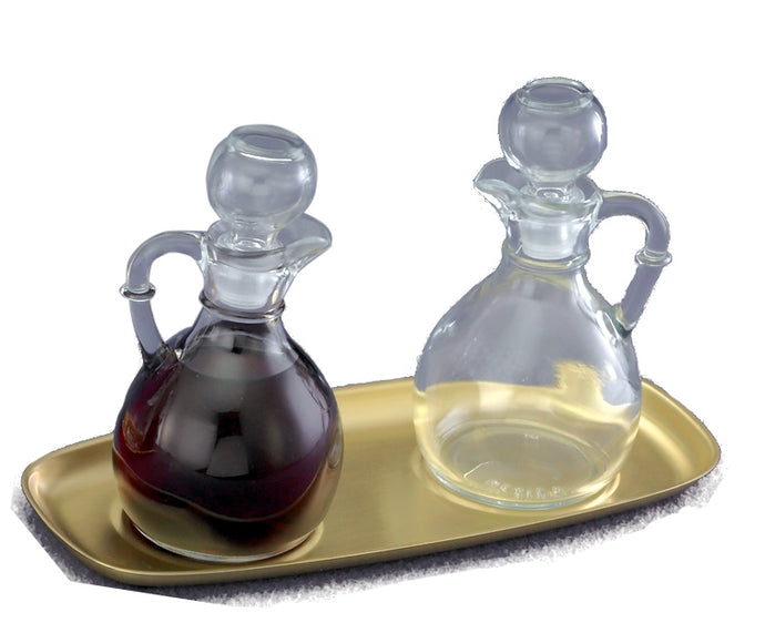 T87B Glass Cruet Set