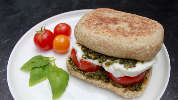 Caprese (Tomato, Pesto, and Burrata) Sandwich Recipe