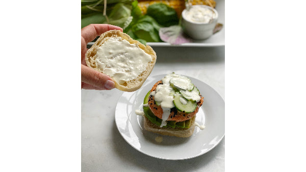 Poke Salmon Burger on an English Muffin Recipe