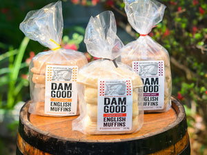 dam good english muffins all natural hand-made artisan sourdough english muffins