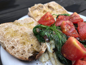 whole wheat english muffin egg white spinach tomato