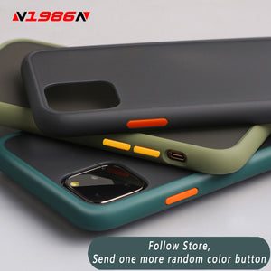 N1986N Phone Case For iPhone 11 Pro X XR XS Max 7 8 Plus Luxury Contrast Color Frame