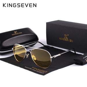 KINGSEVEN 2017 Polarized Sunglasses Designer Yellow Lens Night Vision Driving Glasses Reduce Glare Men Women Unisex