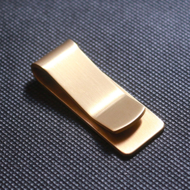 Petrichor Stainless Steel Metal Fashion Simple Gold Silver Money Clip