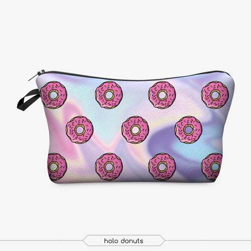 Jom Tokoy 3D Printing Makeup Bags With Multicolor Pattern Cute Cosmetics Pouches Women