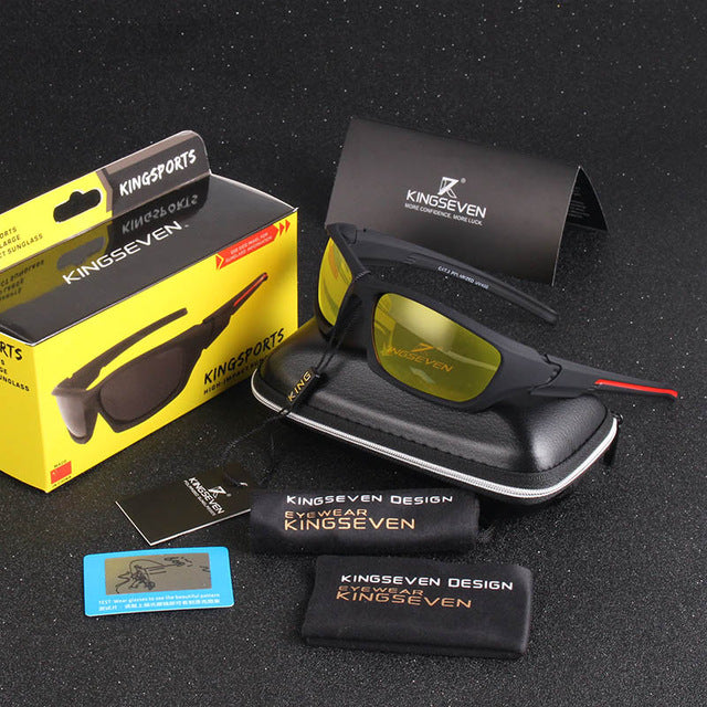 Kingseven Classic Sunglasses Men Polarized UV400 Anti-Reflective Glasses Driving