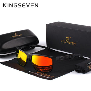 KINGSEVEN Men Polarized Sunglasses Aluminum Magnesium Sun Glasses  Rectangle Shades For Men