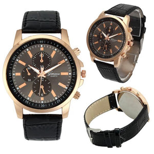 Geneva Splendid Fashion Casual Watches Faux Leather Quartz Analog Wrist Watch For Women