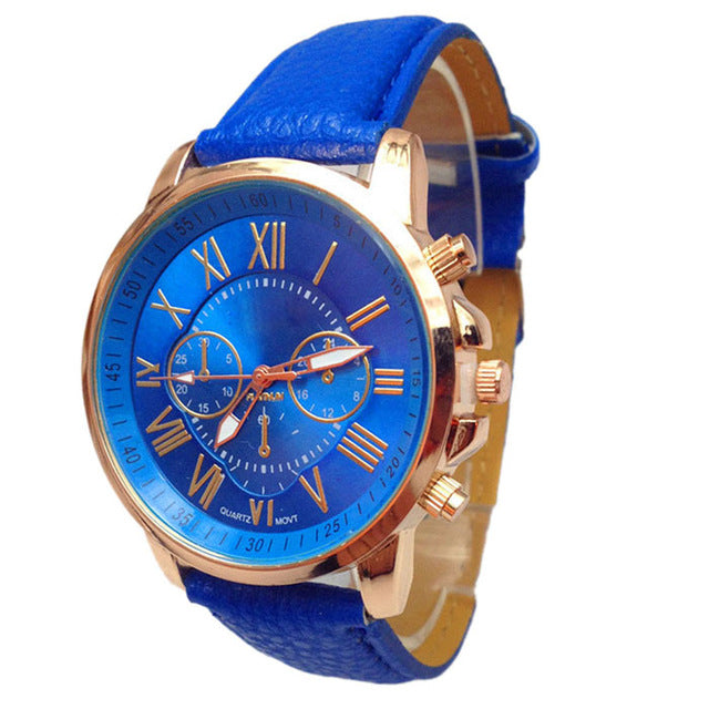 Aimecor Novel design Fashion Faux Leather Men Women Blue Ray Glass Quartz Analog Watches Casual Unisex