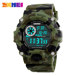SKMEI Men's Military Sports Watches Alarm 50M Waterproof Watch LED Back Light Digital