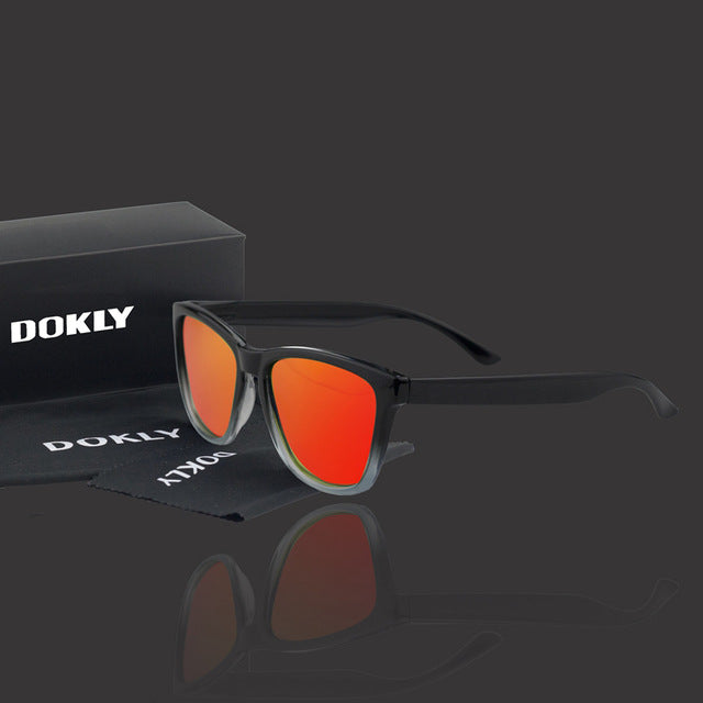 Dokly Polarized Sunglasses Men women unisex  Square plastic frame UV400