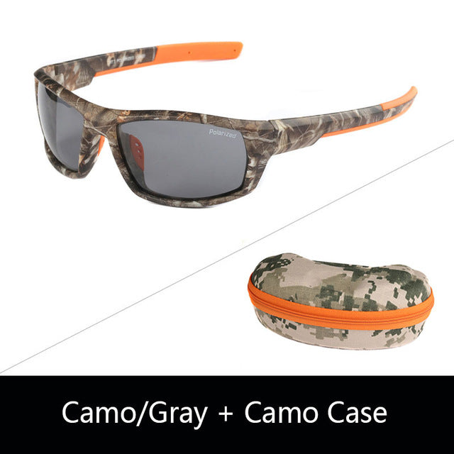 JIANGTUN Camo Black Polarized Sunglasses Men Designer Sports Sun Glasses UV400