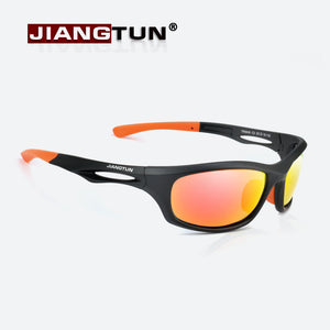 JIANGTUN Flexible TR90 Sport Sunglasses Men Polarized Brand Designer UV400 Protection Sun Glasses Outdoor