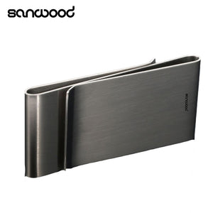 Sanwood Stainless Steel Silver Color Slim Money Clip