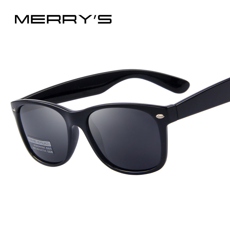 MERRY'S Polarized Sunglasses Classic Men Women Unisex Retro Rivet Shades Designer UV400