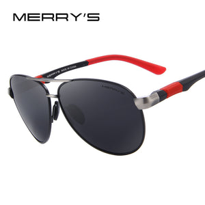 MERRY'S Men Pilot Sunglasses HD Polarized Glasses UV400
