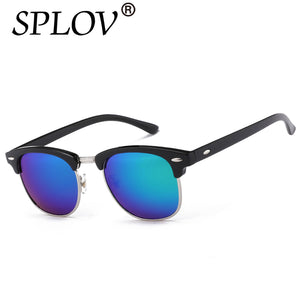 SPLOV Half Metal Sunglasses Men Women Unisex Designer Fashion Mirror Glasses