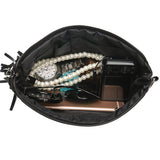 MOJOYCE Women's Braid Weave Bag Leather Tassel Handbags Shoulder Crossbody Bag