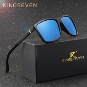 KINGSEVEN Vintage Style Sunglasses Men UV400 Classic Square Glasses