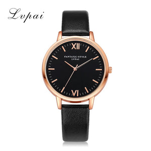 Lvpai 2017 Women Leather Watch Luxury Classic Wristwatch Fashion Casual Simple Quartz