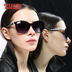 20/20 Brand Designer Women Cat eye Sunglasses Retro Style Polarized Shades UV400