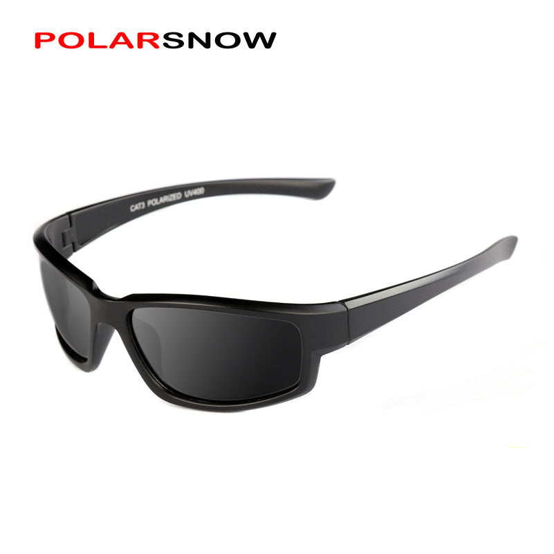 POLARSNOW Vintage Polarized Sport Sunglasses Men 2018 UV400