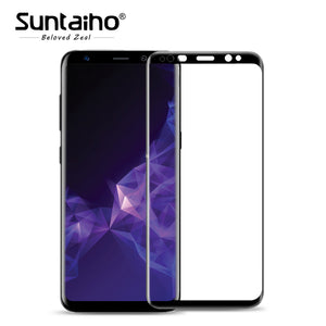 Suntaiho 9H 3D Full Curved Screen Protector Tempered Glass For Samsung S8 / S9 / Plus