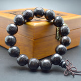 15mm Black Sandalwood Mala Bracelets (5 Pieces)