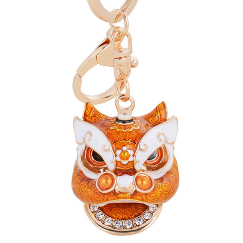 Lion Head Keychain Pendant-collection