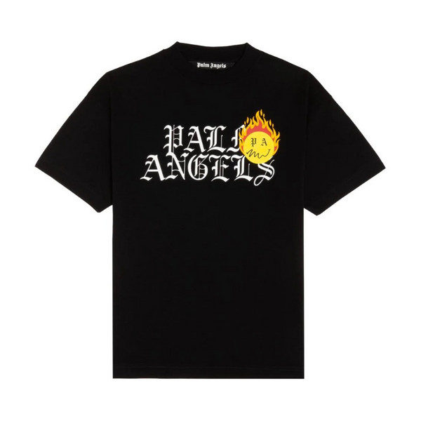 Palm Angels Burning Head Logo Tee | Black
