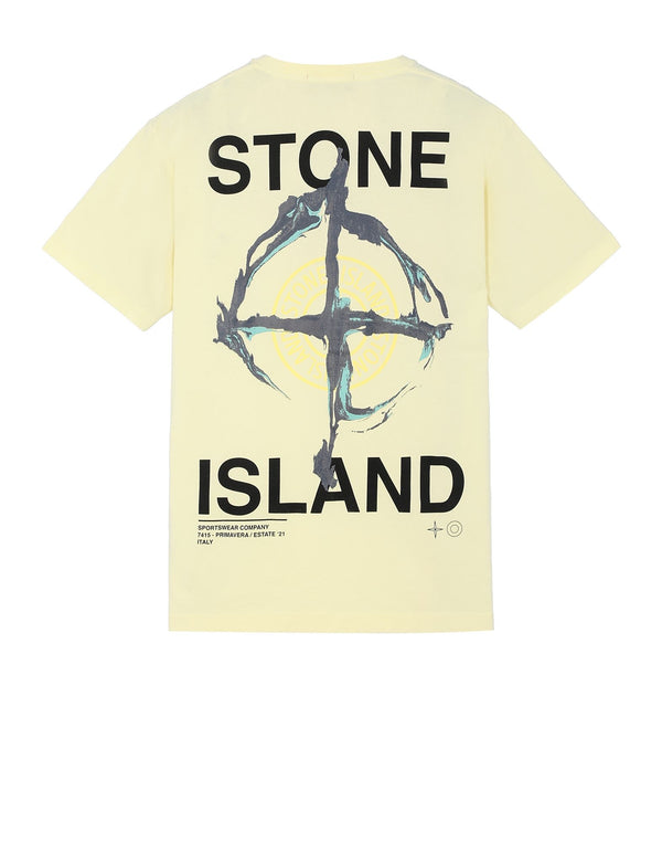 Stone Island Marble Three Print Tee | Lemon