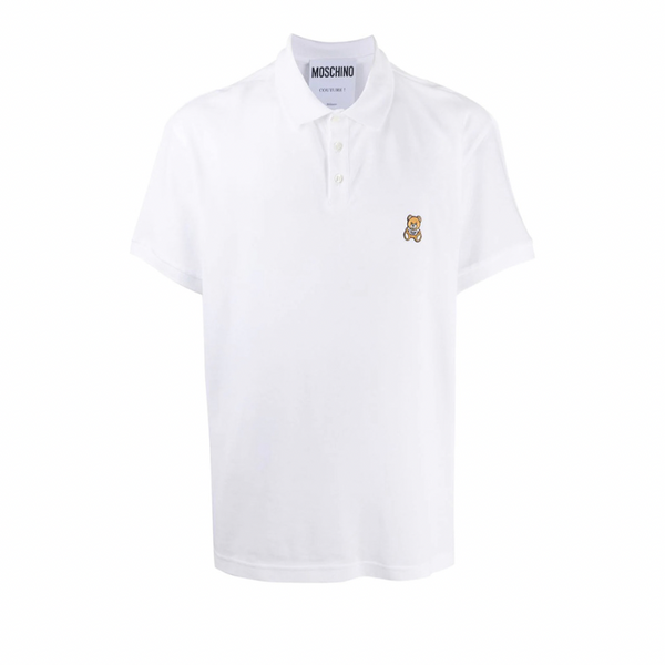 Moschino Bear Polo Shirt  | White