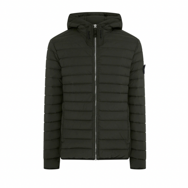 Stone Island Loom Woven Down Jacket | Dark Forest