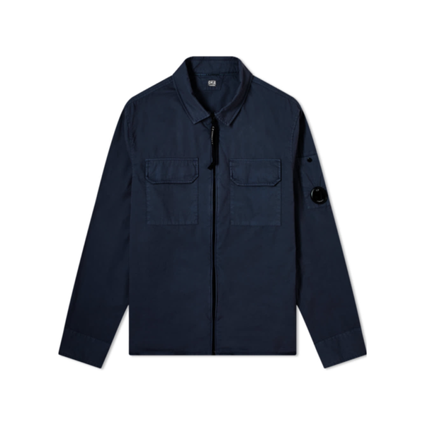 CP Company Zipped Overshirt | Total Eclipse