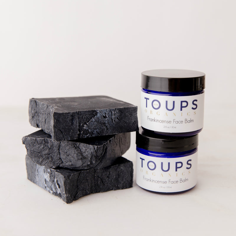 FRANKINCENSE FACE BALM + CHARCOAL SOAP SET