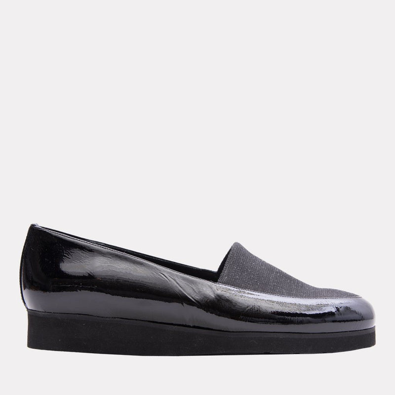 Axel Patent Leather Flat (Black Patent)