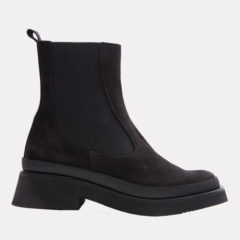 Esther Suede Chelsea Boot (Black/Black Suede)