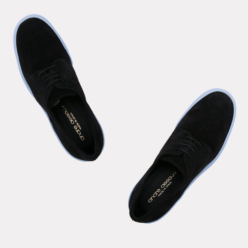 Elliot Suede Oxford (Black/Celeste)