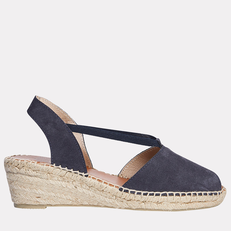 Dainty Espadrille Sandal Suede (Navy)
