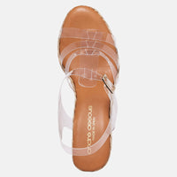 Madia Vinyl Espadrille Wedge (Clear White)